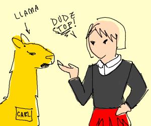 I really hate it when a llama named carl