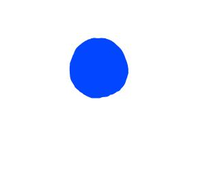 Minimalist blue circle