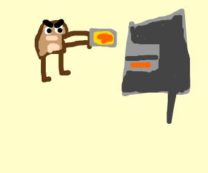 Tasmanian Devil baking Mustard