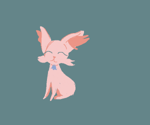 Pink Fennec Fox With no Tail and bell