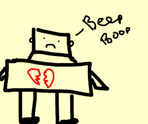 Broken hearted robot