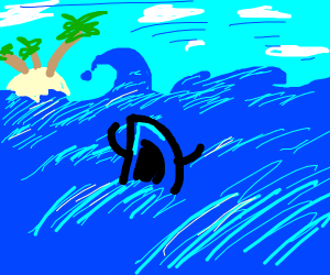 Drawception in an ocean