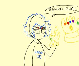 Tomura Shigaraki with the Infinity Gauntlet