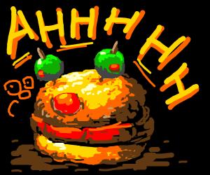 A yellmo burger