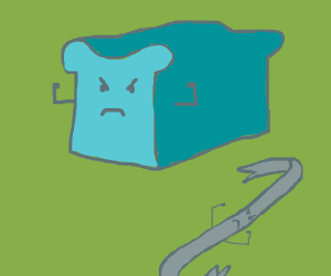 angry bread loaf next to angry iron bar