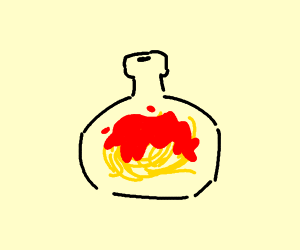 Pasta in a bottle