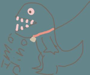 walking your pet dino