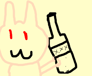 bunny addicted to alcohol