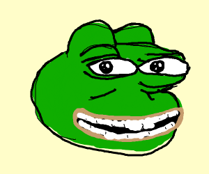 Pepe with healthy teeth