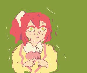 nervous anime girl