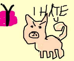 Porky Pig hates Butterfly