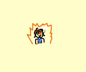 A cute anime boy
