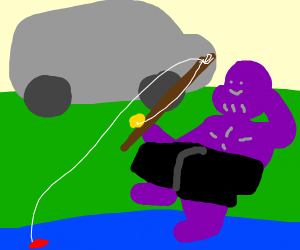 Thanos fishing