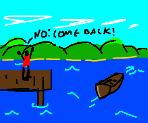 the boat is leaving a poor man behind