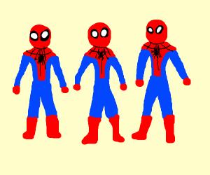 3 Spidermen