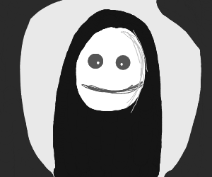 no face, from spirited away, is mad