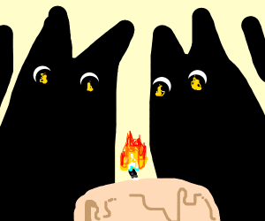 Demon watches a candle melt