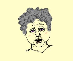 purple eyed grandma