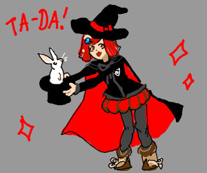 Red  haired magician