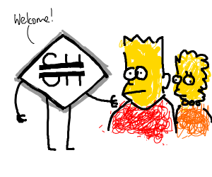 Bart and Lisa Simpson join Soothouse
