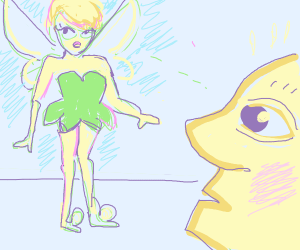 Man looks at Tinker Bell