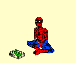 Spider-Man playing the PS4