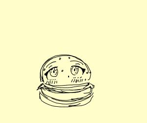 Kawaii-faced burger