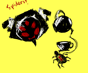 Muffet pours you a cup of spiders.