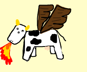 Cow-dragon with 3 eyes