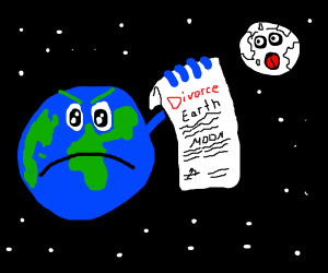 Earth divorces the Moon