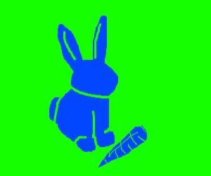 Blue bunny &carrot