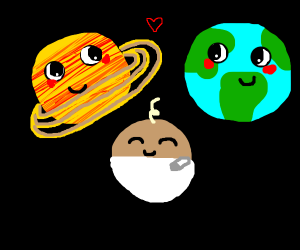 Saturn and earth make a baby