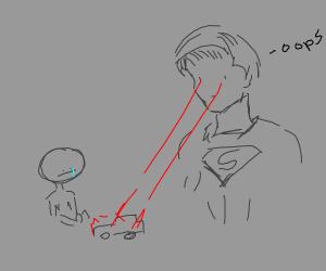 Superman eye lasers a kids toy car, says upsi