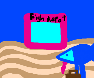 Dad Fish goes to Fish Depot