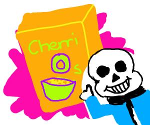 Sans approves cherri-nos cereal