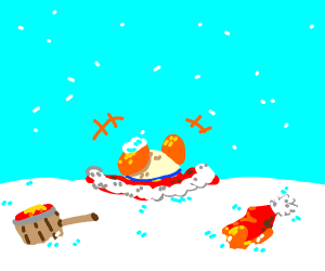 King DeDeDe in the snow