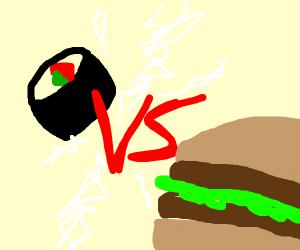 Sushi vs burger