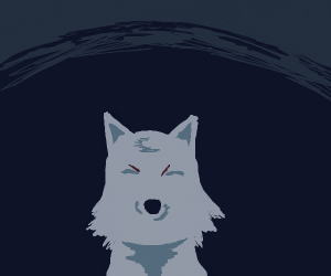 evil grey wolf