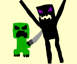 creeper stabs enderman