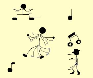 stick figure default dance