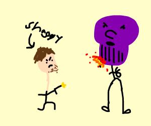 Shaggy defeating thanos