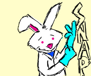 Dr. Rabbit gloves up for prostate exam