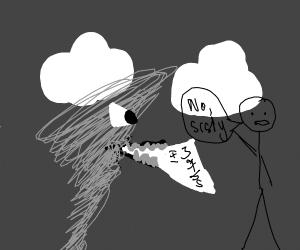 The tornado ate my maths homework! No, srsly!