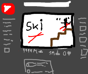 next viral youtube video: skiing stairs boy