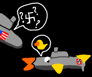 nazi submarine pretending to be a duck