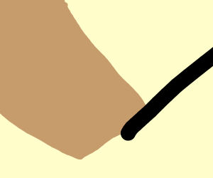 Steve (Minecraft) holds stick person's hand