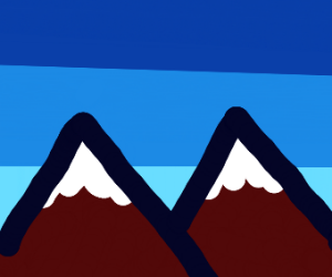 Triangular mountains