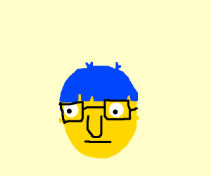 blue haired guy