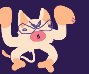 a very angry mankey