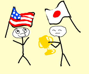 Japan giving USA a trophy